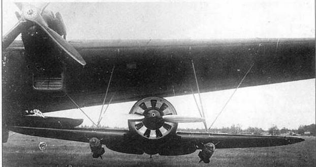 И-16 СПБ под крылом ТБ-3.