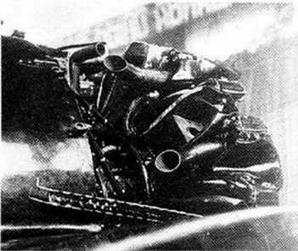 Вид сзади на двигатель М-25 И-16 тип 17.