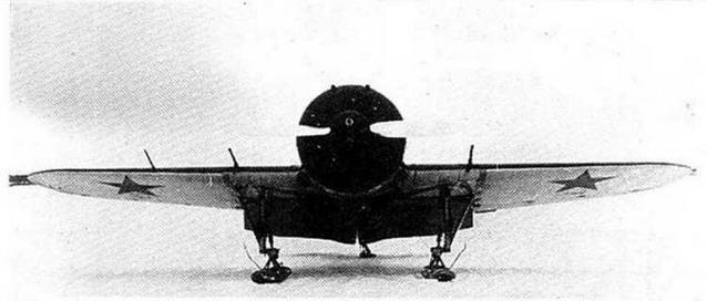 И-16 тип-17 с выпущенными щитками.