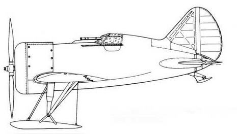 Первый опытный ЦКБ-12 на неубирающемся лыжном шасси.
