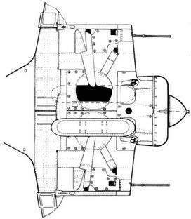 Вид центроплана И-16 тип 17 в лыжном варианте.