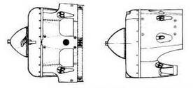 Фрагмент капота с выемками для уборки лыж. Был идентичен для тип 10 и тип 17.
