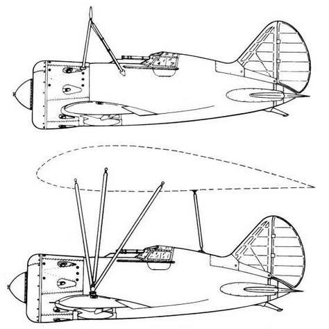 И-16 тип 5 для системы «Звено-6», подвешиваемый под ТБ-3 на земле.