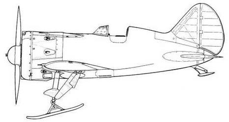 И-16В тип 18 с двигателем М-62 на лыжах Р-39.