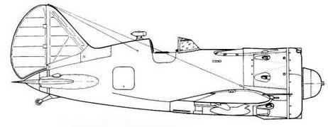 И-16 тип 24, оборудованный кинофотопулеметом ПАУ-22. Тросовая антенна нестандартна.