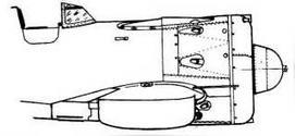 Вид справа И-16 тип 29 с прилегающими подвесными баками.
