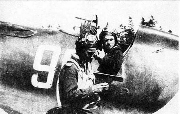 И-16 с бортовым номером -96-. Период Великой Отечественной войны.
