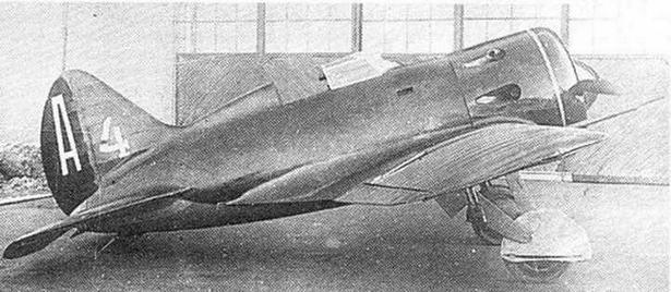 И-16 №123954 ставший прототипом для всех первых серий И-16 тип 5.