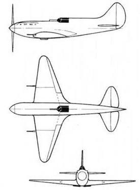 Проект И-17 с упрочненными крыльями для подвески под ТБ-3.