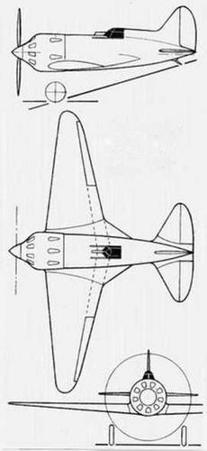 И-19 (ЦКБ-25). Проект. 1935 г.