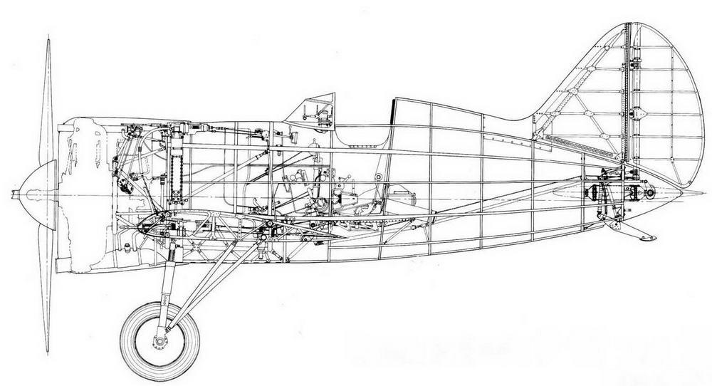 Компоновка И-16 тип 10