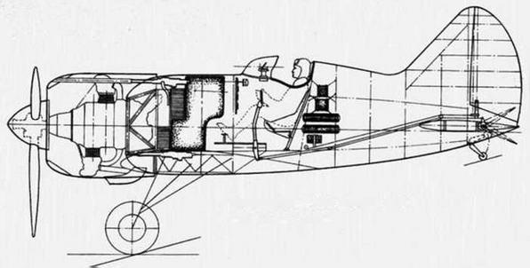 Компоновка И-180, проект, 1938 г.