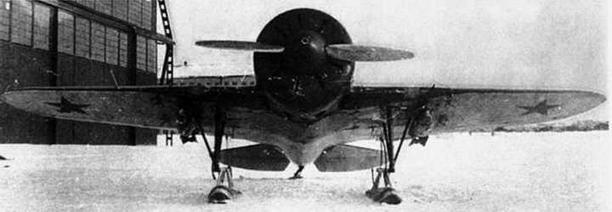 И-16 тип 5 на испытаниях бомбового вооружения в НИИ ВВС.