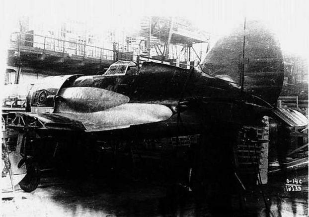 И-16 с двигателем М-62 и турбокомпрессором ТК-1.