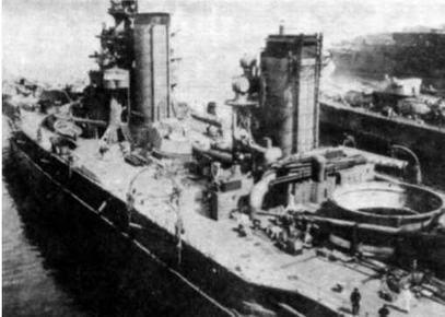 Линейный корабль «Ямаширо» на достройке. 1916 г.