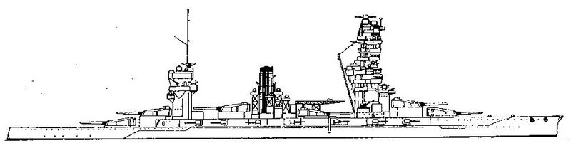 Линейный корабль «Фусо». 1939 г. (Наружный вид)