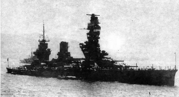 Линейный корабль «Фусо» после модернизации. Конец 1930-х гг.