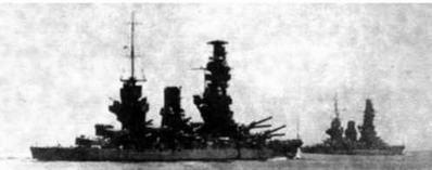 Линкор «Фусо» перед (2 фото вверху) и во время Второй мировой войны