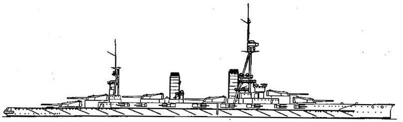 """Линейный корабль """"Ямаширо"""". 1917 г. (Наружный вид)"""
