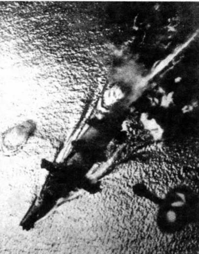 """Линкор """"Ямаширо"""" в последнем бою. 25 октября 1944 г."""