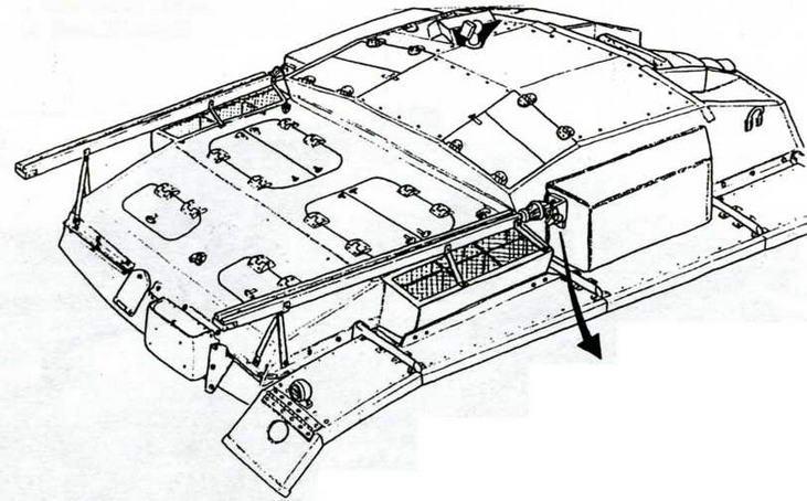 Размещение антенн на StuG III Ausf.E