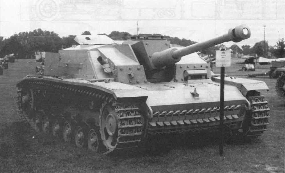 Штурмовое орудие StuG 40 AusfG в экспозиции музея Абердинского полигона в США