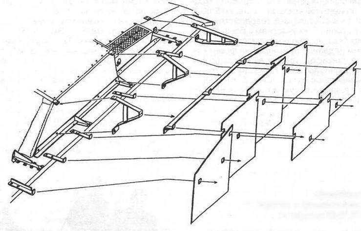 Крепление экранов и кронштейнов на корпусе StuG III