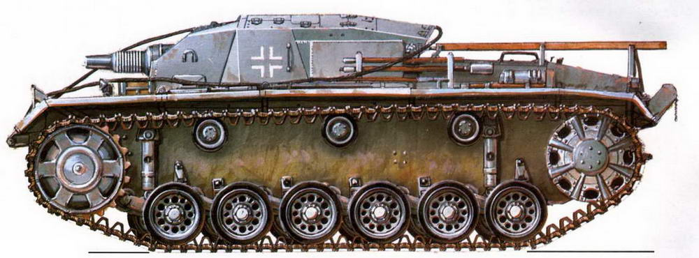 StuG III Ausf.B. 190-й дивизион штурмовых орудий (190. StuG Abt). Восточный фронт, 1941 г.