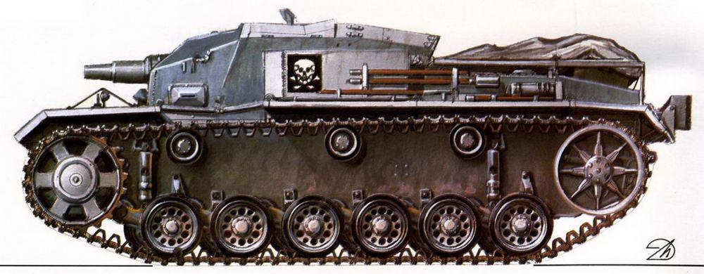 StuG III Ausf.D. 192-й дивизион штурмовых орудий (192. StuG Abt). Восточный фронт, лето 1941 г.