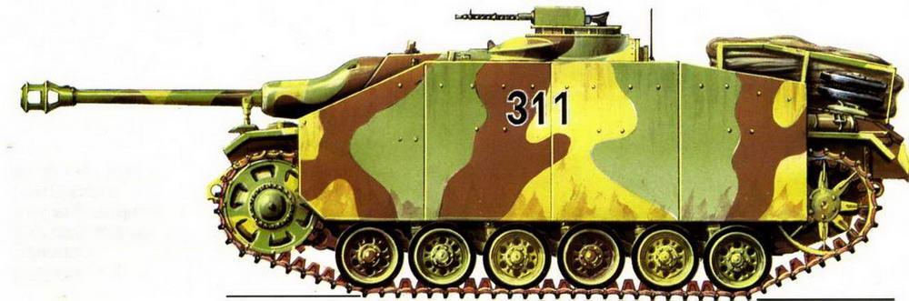 StuG 40 Ausf.G. 12-я бригада штурмовых орудий (12. StuG Brigade). Германия, февраль 1945 г.