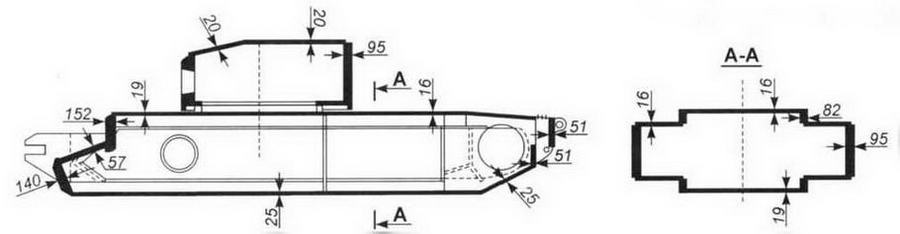 Схема бронирования танка «Черчилль VII»