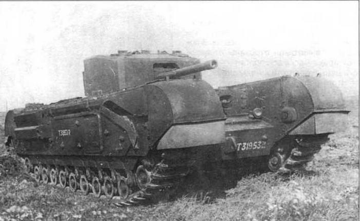 Пехотный танк «Черчилль III» во время испытаний на НИБТПолигоне. Сентябрь 1942 года
