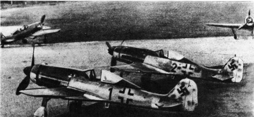 FW190D-9 штаба IV/JG3 в Пренцлау