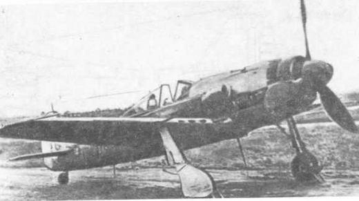"""Прототип """"Доры-9"""" FW190V53 в сентябре 1944 г."""