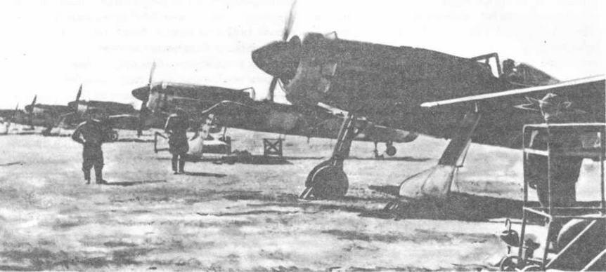 Трофейные FW190D-9, которые после войны поступали на вооружение авиационных полков КБФ