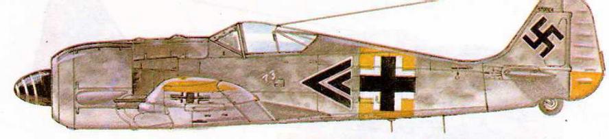 FW190A-6 командира I/JG54 Вальтера Новотны, 255 побед. Россия, 1944 г.