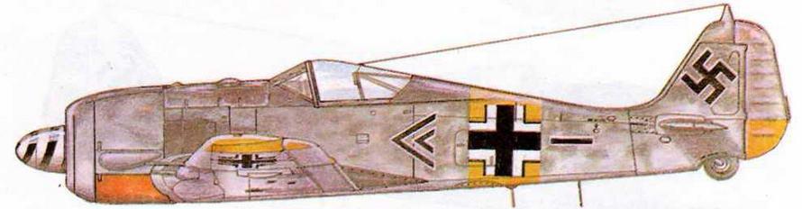 FW190A-6 командира II/JG54 Эриха Рудорфера, 222 победы. Финляндия, 1944 г.