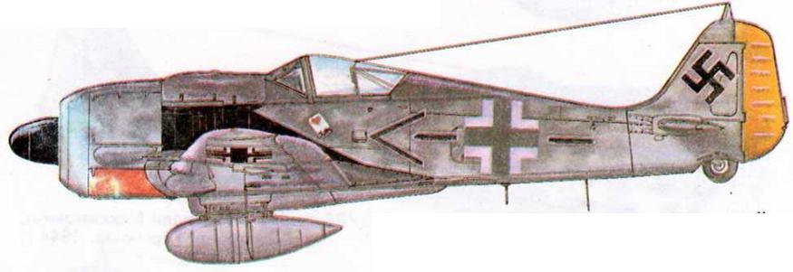 FW190A-7 командира JG26 полковника Йозеф; Приллера, 101 победа, 1944 г.