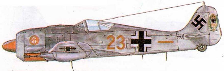 FW190A-7/R3 командира II/JG1 майора Гейнца Вера, 220 побед. Германия, 1944 г.