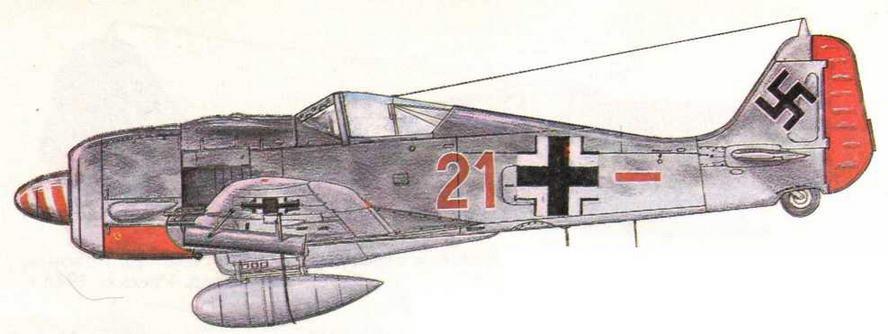FW190A-7/R6 из JG1 Вальтера Озау, 128 побед. Германия, 1943 г.
