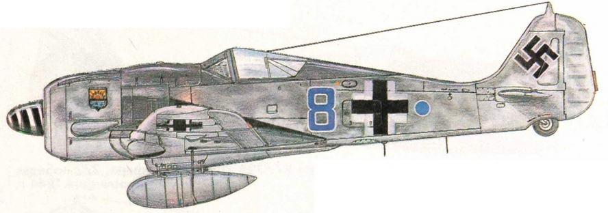 FW190A-8 из IV/JG5. Норвегия, 1945 г.