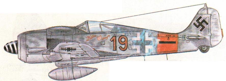 FW190A-8/R2 из 5./JG300 Эрнста Шредера, 23 победы. Германия, 1944 г.