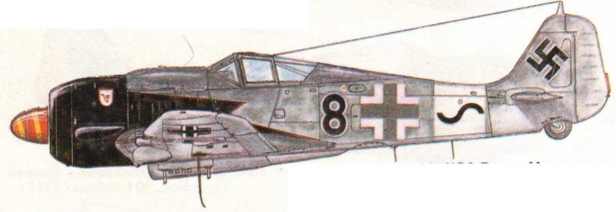 FW190A-8/R8 из 11./JG3 Вилли Максимовича, 25 побед. Германия, 1944 г.