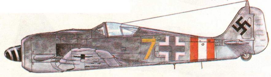 FW190A-9 из I/JG6. Германия, зима 1945 г.