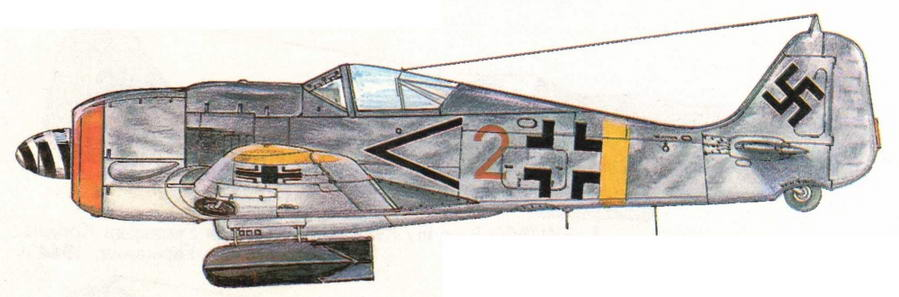 FW190F-8 из I/SG2. Венгрия, 1945 г.