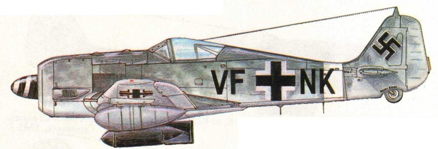 FW190G-3 из SG4. Италия, 1944 г.