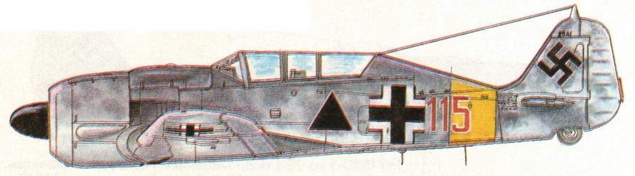 FW190S-5 из I/SG151. Германия, 1945 г.