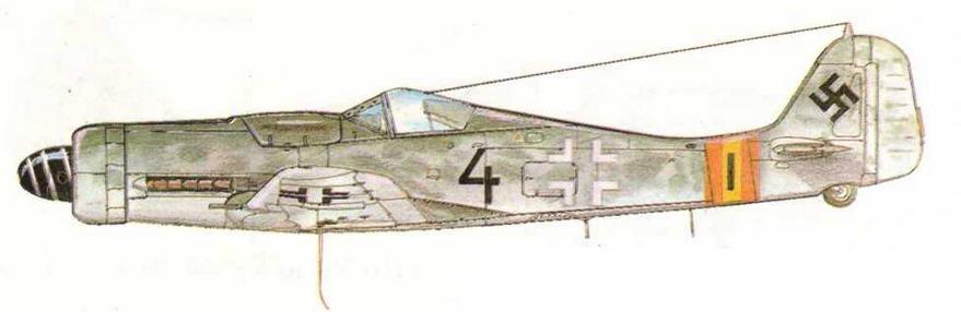FW190D-9 из III/JG54. Польша, 1944 г.