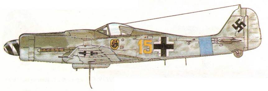 FW190D-9 из III/JG54 фельдфебеля Герхарда Кролла. Германия, 1944 г.