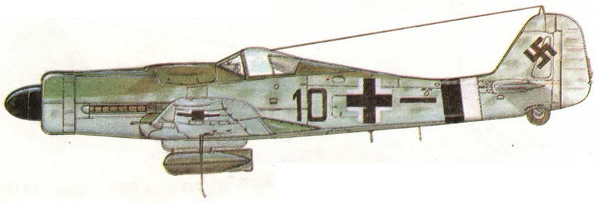 FW190D-9 из II/JG26 капитана Петера-Пауля Стейдла. Германия, 1945 г.